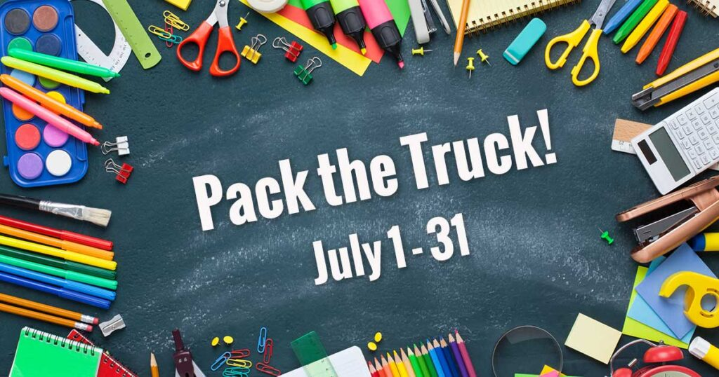 Pack the Truck Event