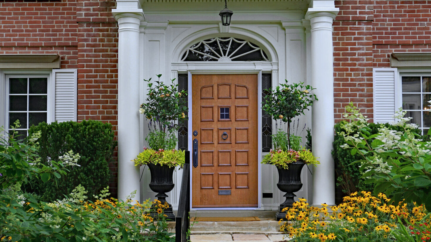 Welcoming entryway of home